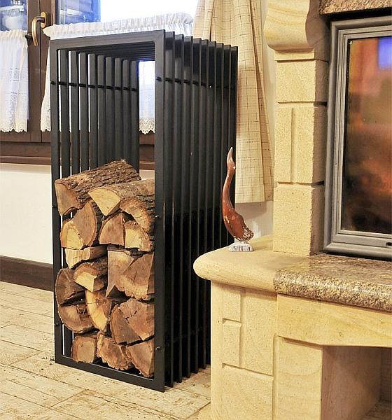 kaminholzregal d stil kaminholzst nder 100cm holzkorb. Black Bedroom Furniture Sets. Home Design Ideas