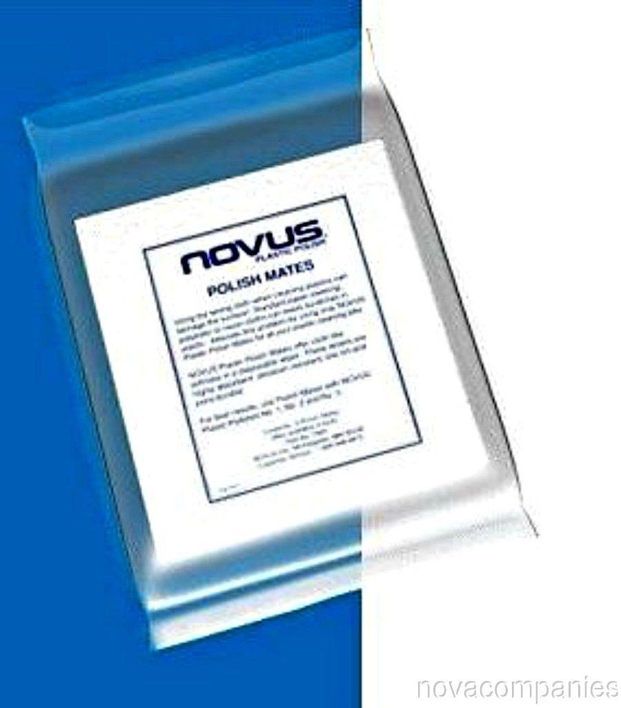 Novus Plastic Acrylic Polish Polish Mate Wipe Clot