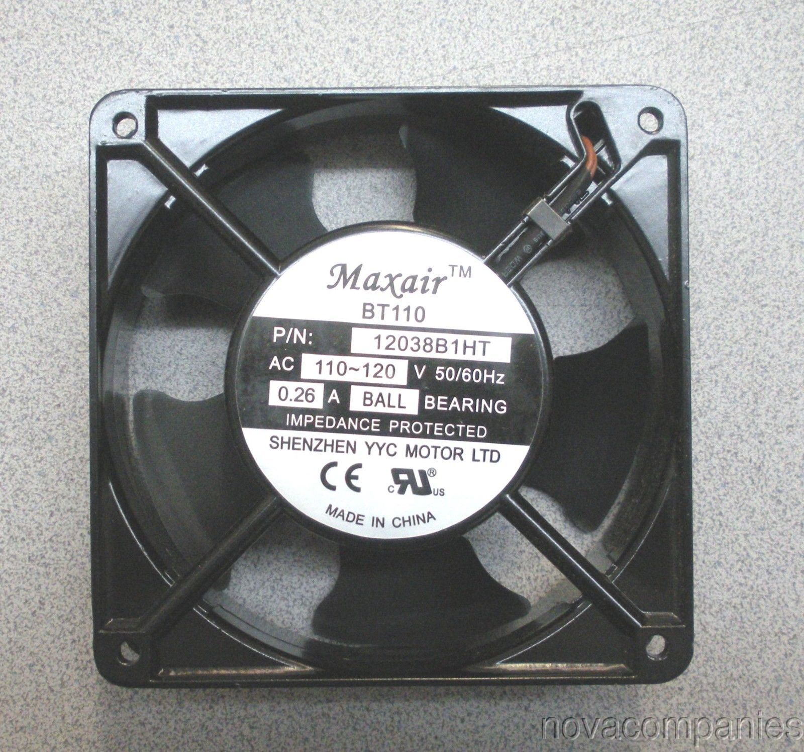 Cooling Fan 120v MAXAIR Replaces NMB-MAT 4715S-12