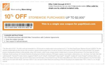 pajiyom99_aol.com : ?? 4 Lowes 10%OFF Home Depot Coupons 6/15/11 ?? INSTANT