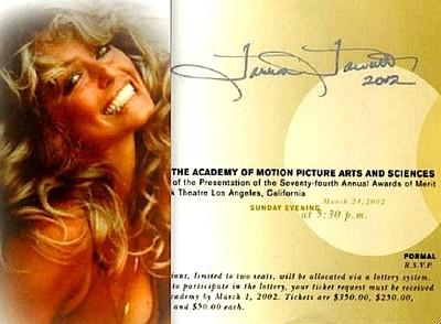Farrah Fawcett Personal Signed Academy Award Oscar