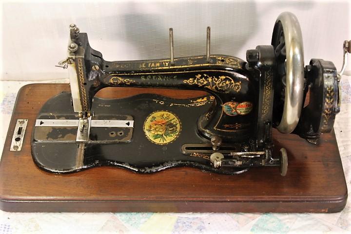 ECLIPSEHAND CRANK SEWING MACHINEFIDDLE BASELATE 40s EBay Inspiration Vintage Hand Crank Sewing Machine
