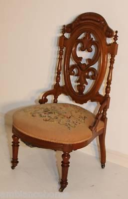 Ambianceantiques Aol Com Victorian Slipper Chair Antique