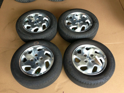 98 02 honda accord oem alloy wheels rims with tires stock. Black Bedroom Furniture Sets. Home Design Ideas