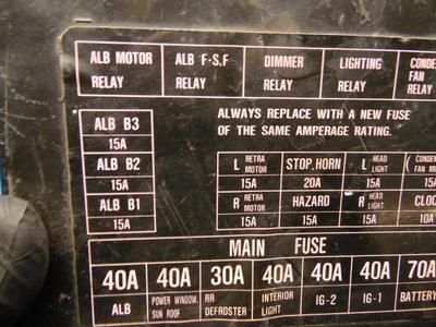 88 91 honda prelude oem under hood fuse box & fuses relays w alb ebay 1999 honda prelude halo headlights  honda prelude