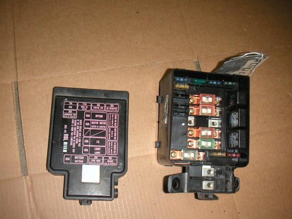 92 93 94 95 honda civic oem under hood fuse box with fuses relays diagram  label