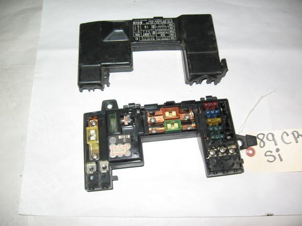 88-91 Honda Crx Civic OEM under hood fuse box w/ relay load detector on honda cr-v under hood fuse box, honda civic starter, honda civic steering column, honda civic sunroof, honda civic speedometer,