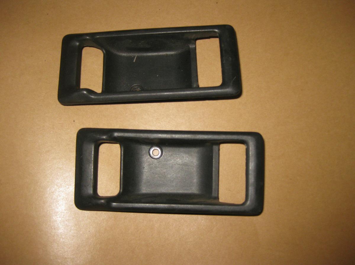 86 89 Acura Integra Oem Interior Door Handle Covers Garnish X2 Black 2 Door Ebay