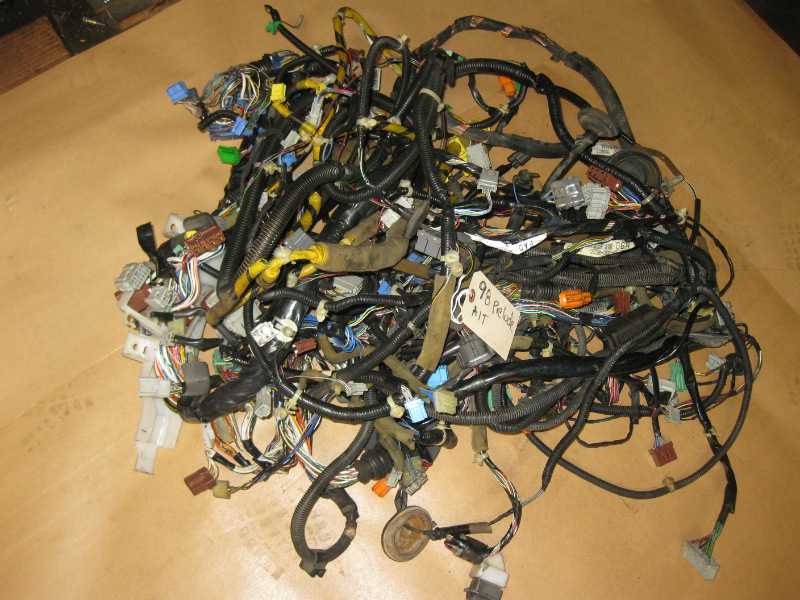 97-98 honda prelude oem interior engine bay wiring harness ... car wire harness for cars