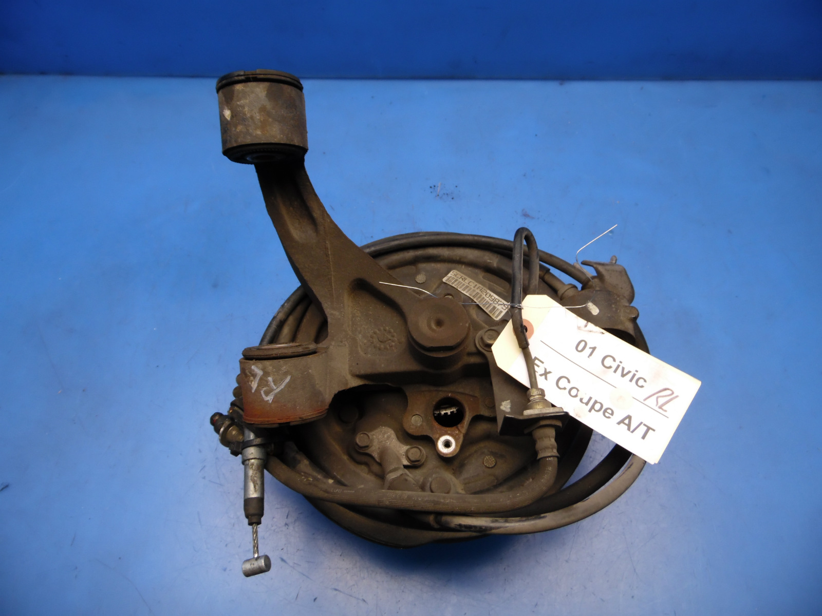 01 05 Honda Civic Oem Rear Left Side Brake Knuckle Spindle Hub W 1992 This Is A Driver Removed From 2001 Ex With Abs Should Fit Non Si But Please Double Check To Be