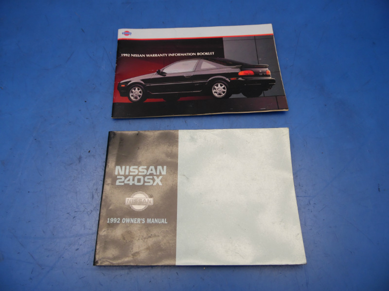 92 nissan 240sx oem owners manual booklet book warranty 92 nissan 240sx oem owners manual booklet book warranty information catalog publicscrutiny Image collections