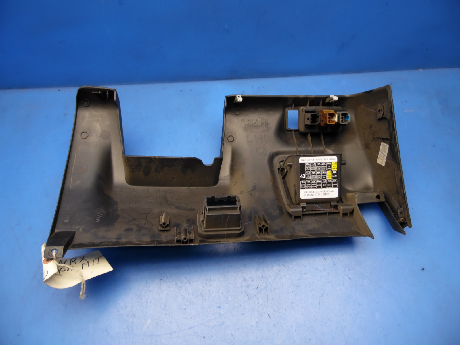 02 05 Wrx Impreza Oem Under Dash Cover Compartment Fuse Box Diagram Sti Carbon Flaws 3