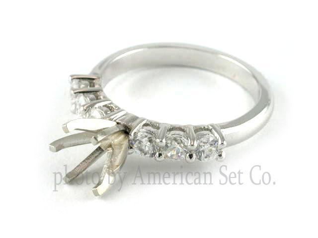 platinum simple classic engagement ring