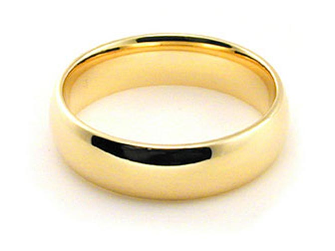 14K HOLLOW YELLOW GOLD PLAIN COMFORT FIT WEDDING BAND RING MENS WOMEN/'s