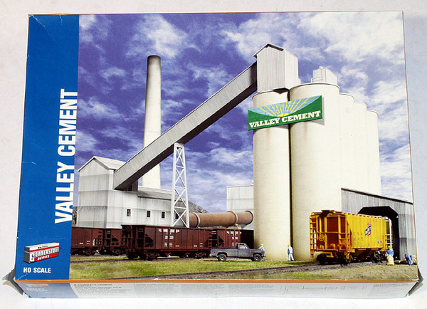 Walthers Valley Cement : Walthers ho gauge valley cement building kit