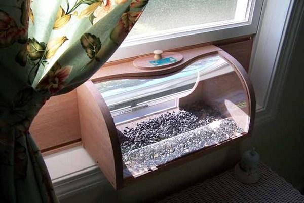 Coveside In House Window Bread Box Bird Feeder W Mirror Ebay