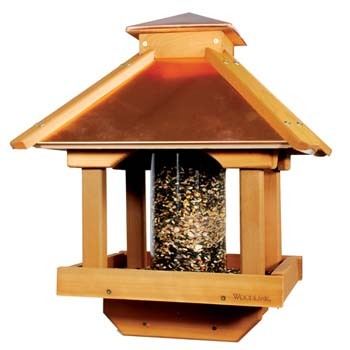 Woodlink Large Coppertop Cedar Gazebo Bird Feeder Ebay