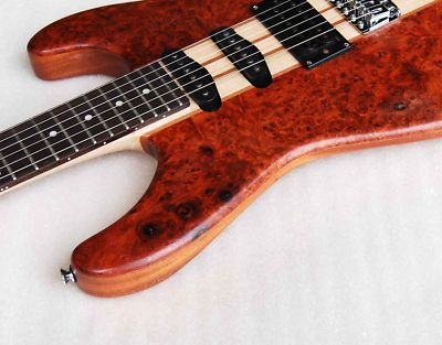 inlaidartist solidwood bird eyes bubinga electric through neck guitar 749. Black Bedroom Furniture Sets. Home Design Ideas