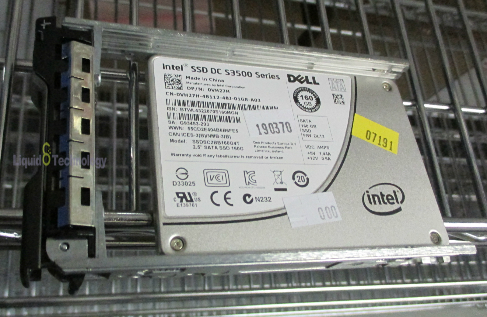 "5"" solid state drive ssdsc2bb160g4t vh27h r620 r610图片"