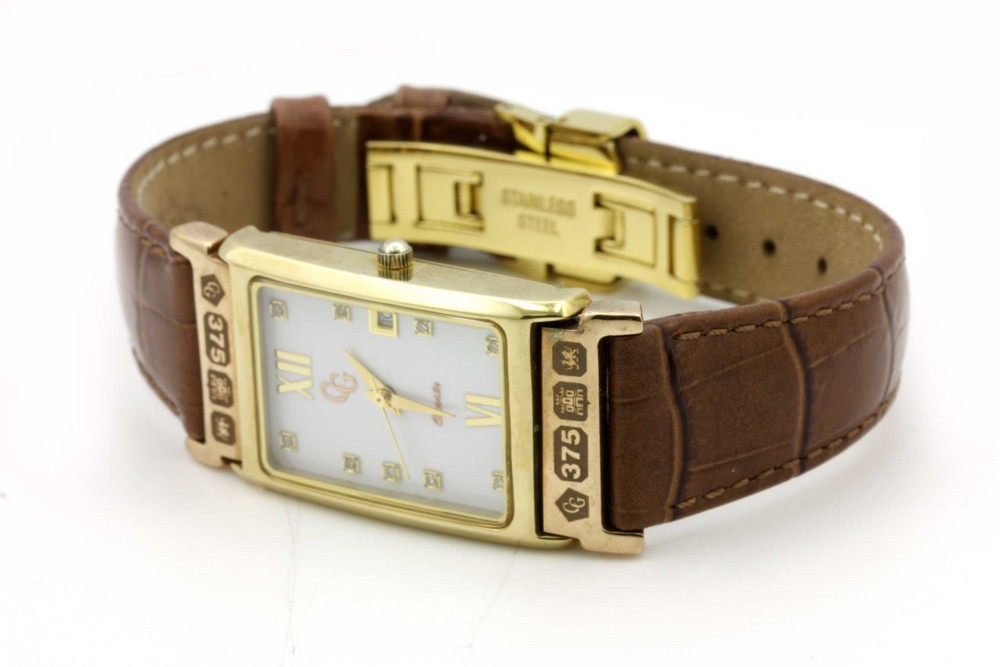 9ct clogau yellow gold gents
