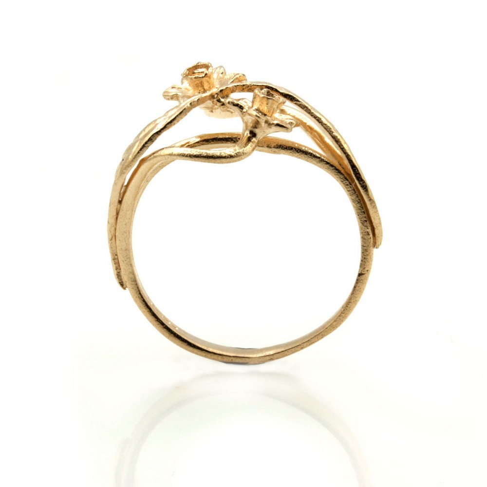 Welsh Wedding Ring: 9ct Rose Gold Ring Welsh Design Ring With Daffodil Flower