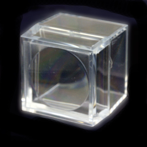 Acrylic Boxes Small : Small acrylic magnifying specimen cases magni box