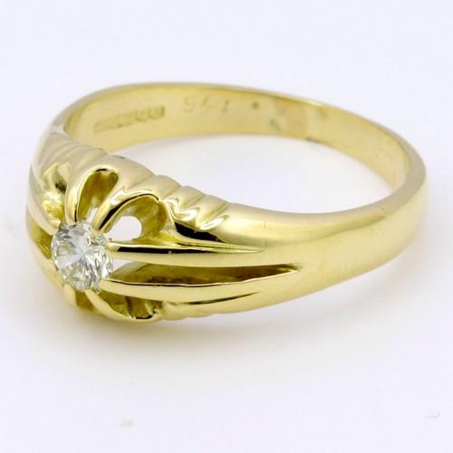 18ct gelbgold zigeuner stil herren diamant ring voll. Black Bedroom Furniture Sets. Home Design Ideas