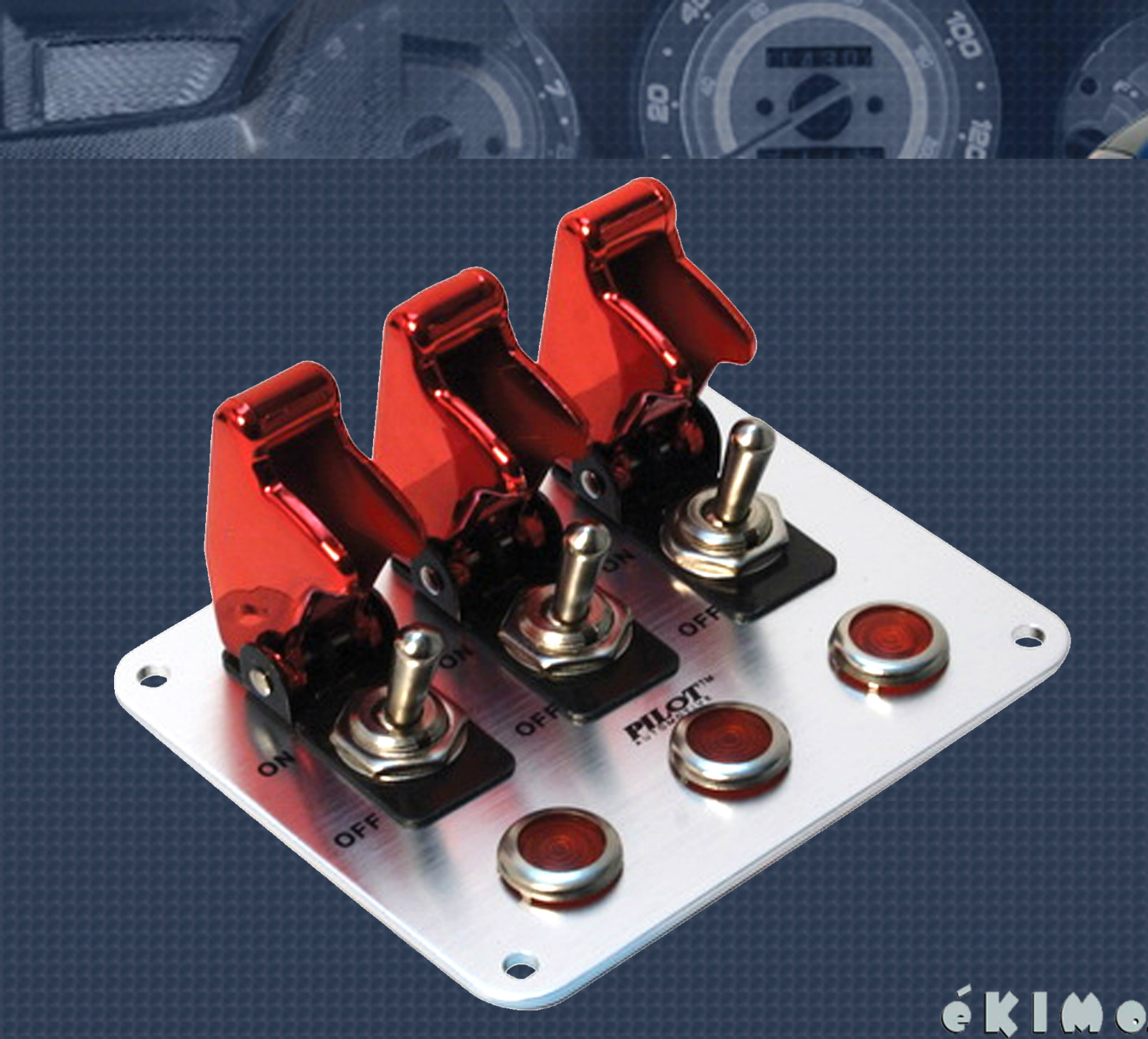 Details about Pilot 3 Row Red Anodized Safety Cover Aircraft Toggle Switch  Red Indicator Light
