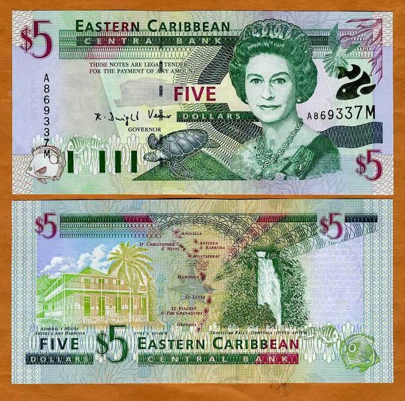 Eastern East Caribbean Montserrat P-37m UNC 2000 $5