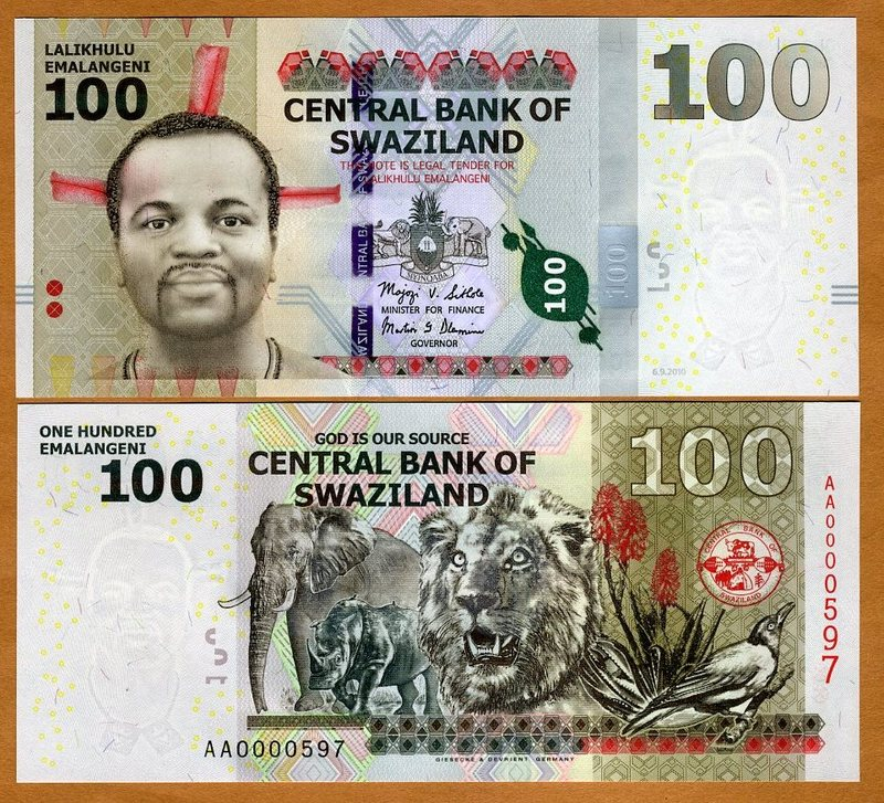 SWAZILAND 50 EMELANGENI 2010 P-38 UNC *//*