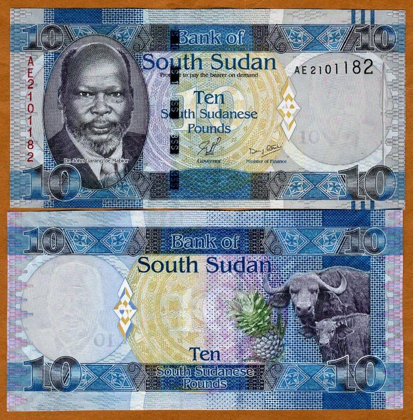 2011 10 Pounds UNC South Sudan Pick 7