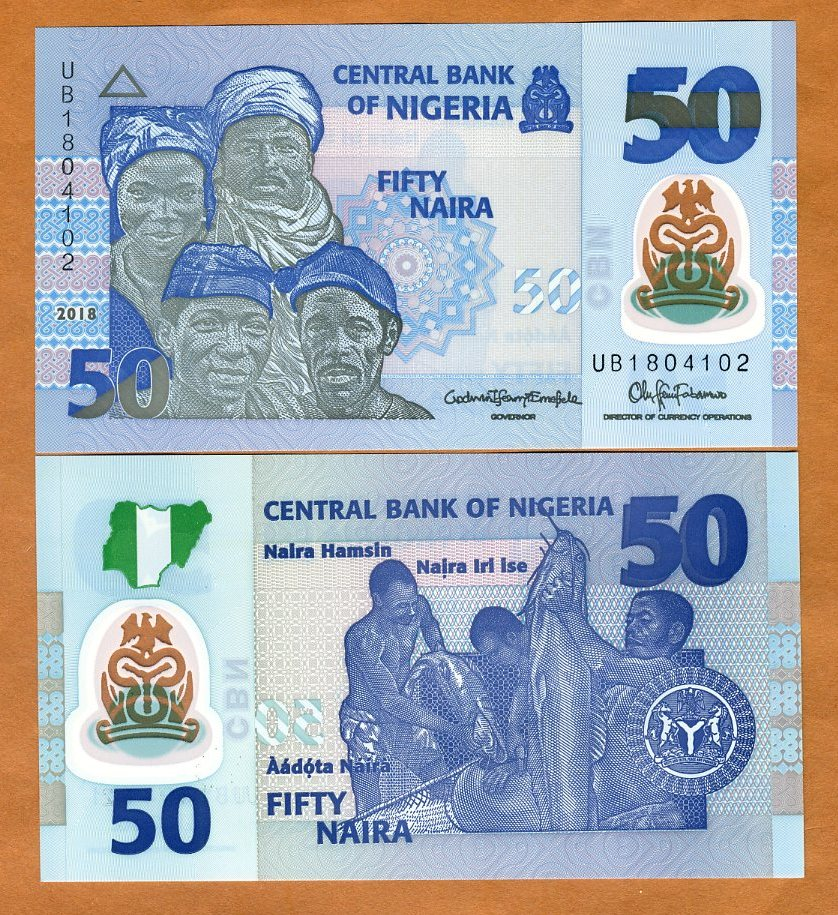 Details About Nigeria 50 Naira 2018 Pick 40 New Polymer Unc