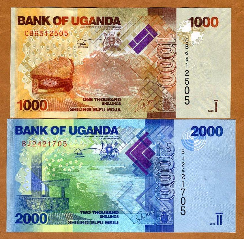 UNC 2017 1000;2000;5000 Shillings SET Uganda P-49-50-51