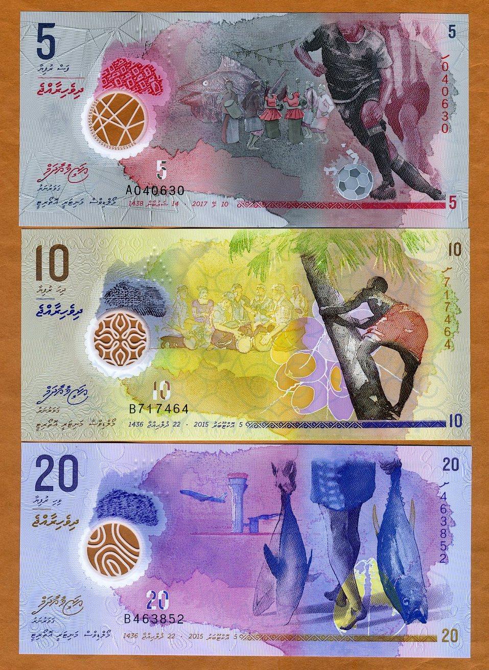 2016 POLYMER P 30 REPLACEMENT Z PREFIX UNC MALDIVES 500 RUFIYAA 2015