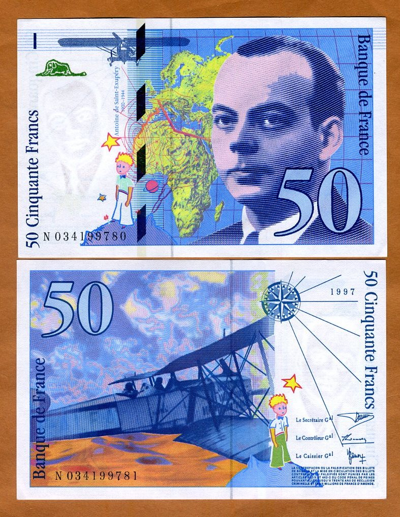 Gem UNC France P-157A 1997 50 Francs