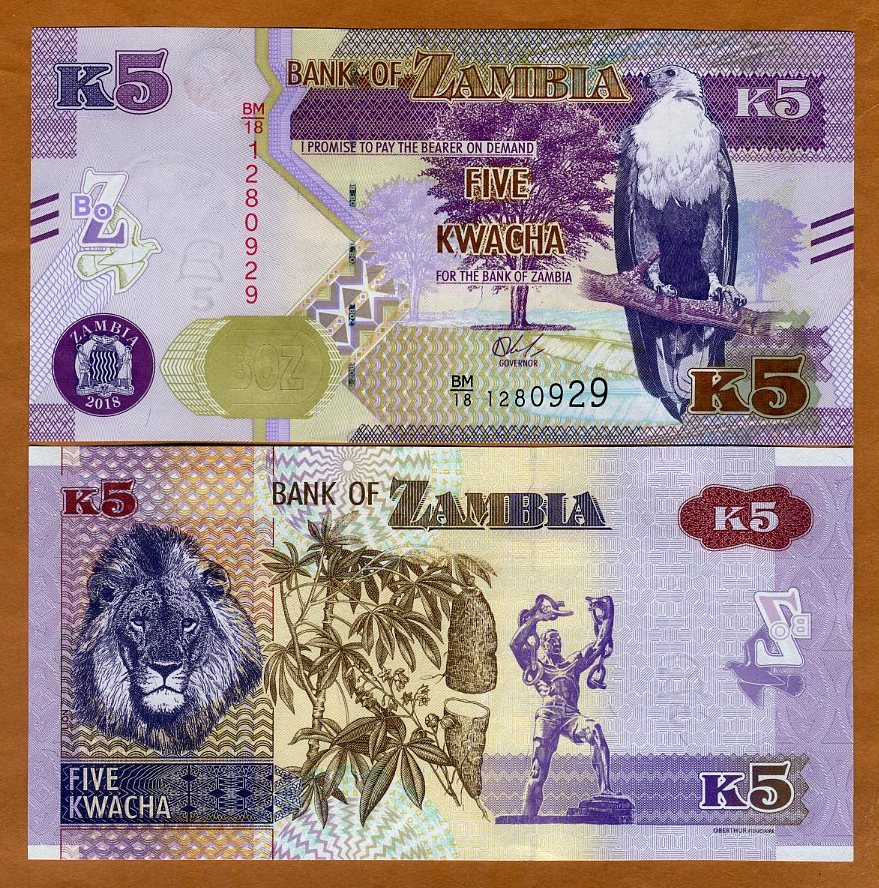 SET Zambia 2018 P-49-50-51-New 2-5-10 Kwacha Upgraded Security UNC