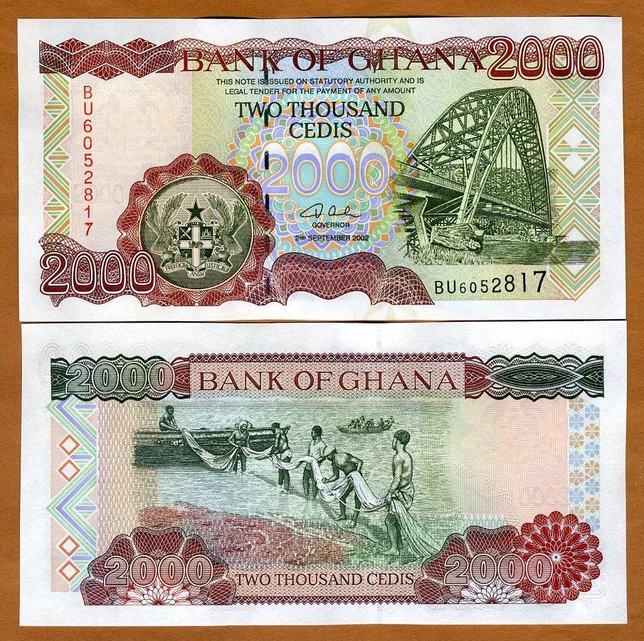 Ghana // Africa 2000 Cedis Pick 33 2003 33h UNC