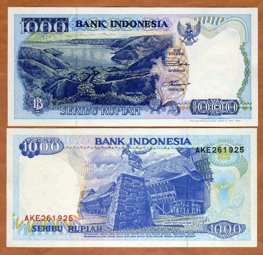 INDONESIA 1000 RUPIAH 1992 P 129 UNC