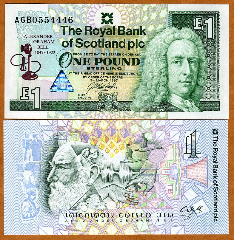 SCOTLAND    1  POUND  1997  Prefix AG  P 359  Uncirculated COMMEMORATIVE
