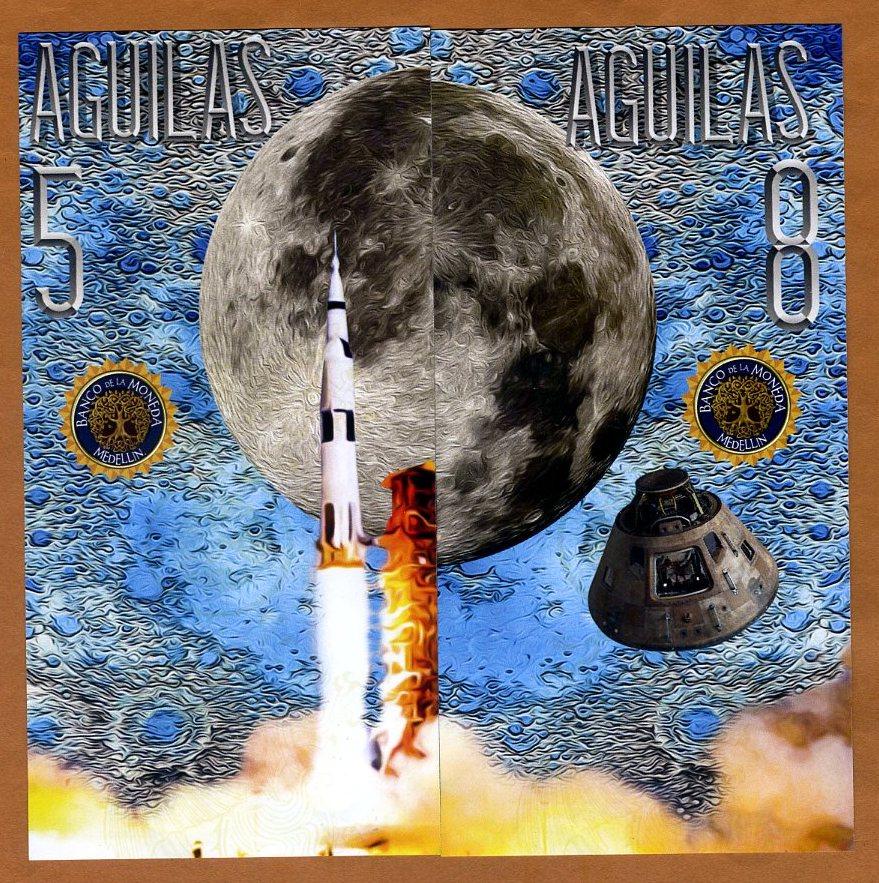El Club De La Moneda 5;8 Aguilas 2019 POLYMER SET Moon Landing