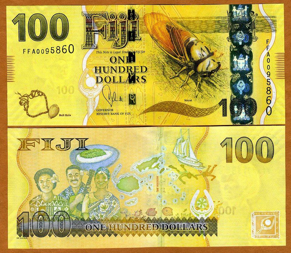 Fiji 100 Dollars p-119 2012 UNC Banknote