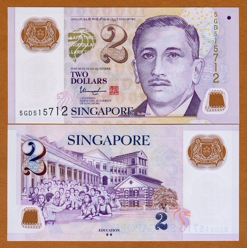 New Sig ND P-46g Polymer 2015 2 Dollars Singapore UNC />  two diamonds