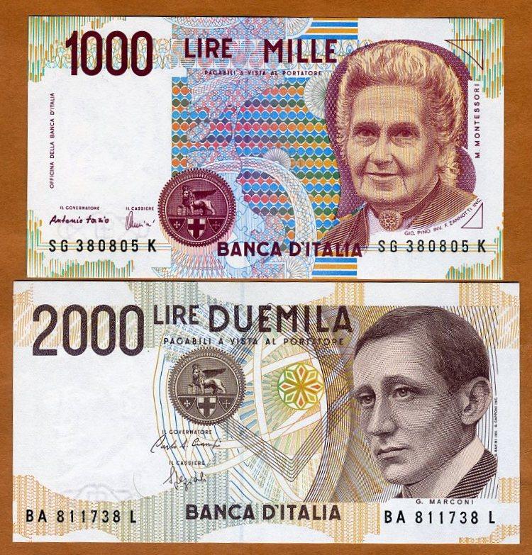 ITALY 1000 1,000 LIRE 1990 P 114 UNC