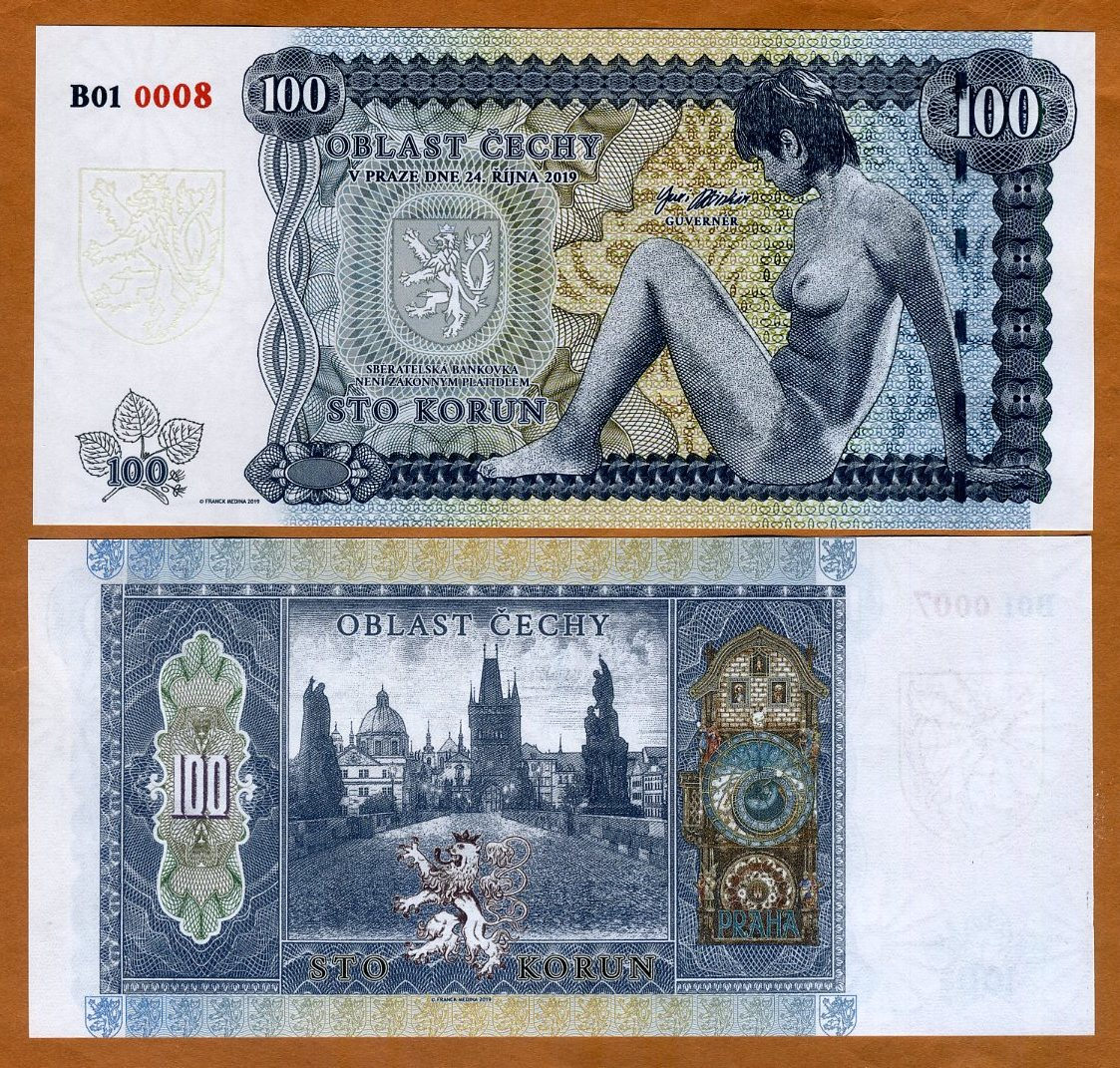 Nude Allegory Matching S//N Private Limited Issue SET Bohemia 50;100 Korun 2019