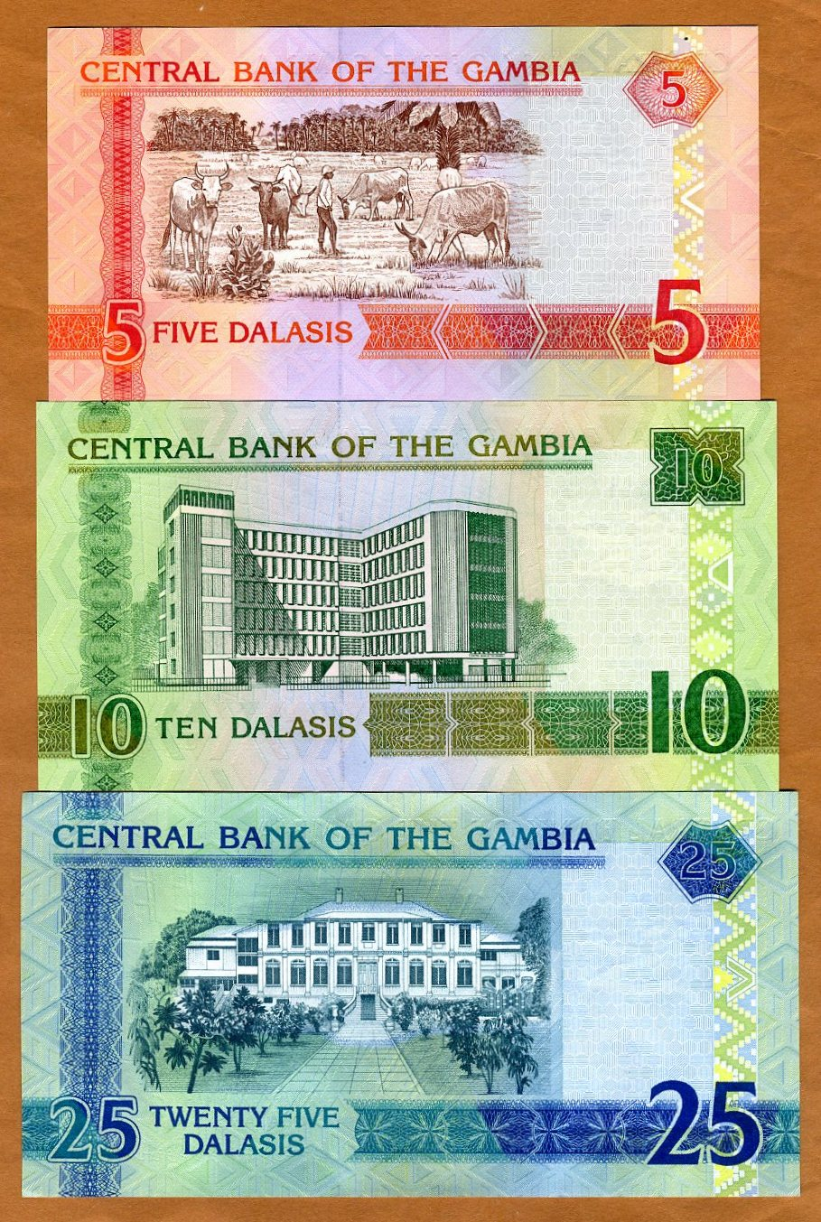 ND 10 Dalasis P-26-New 2006 UNC 2013 Issue Gambia