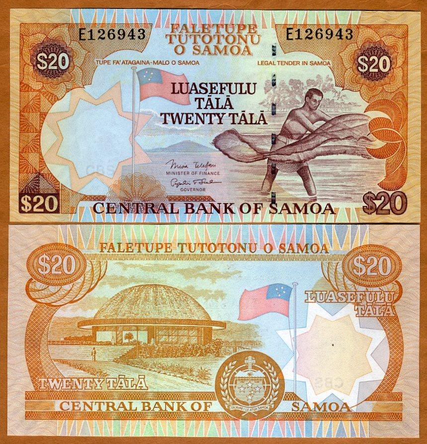 WESTERN SAMOA 20 TALA 2005 P 35 B UNC