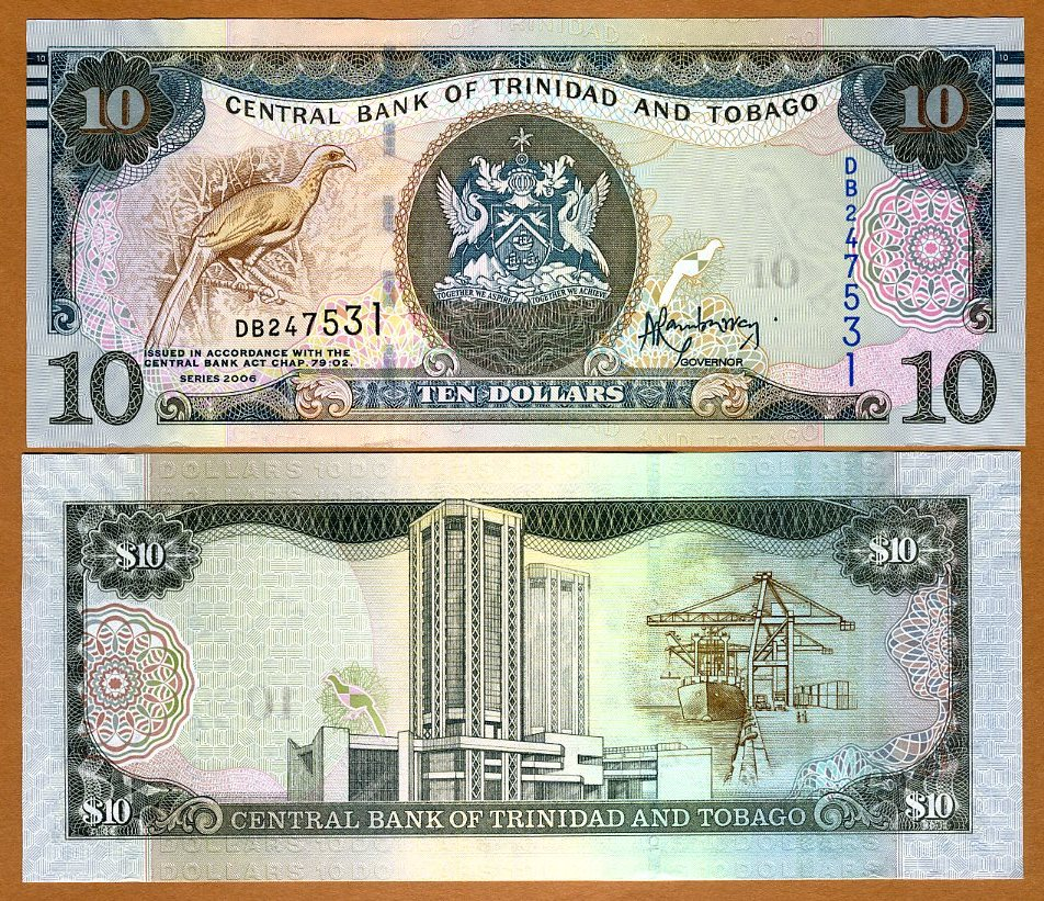 P-New New Features 5 dollars 2006 Trinidad and Tobago UNC 2015 New Sig