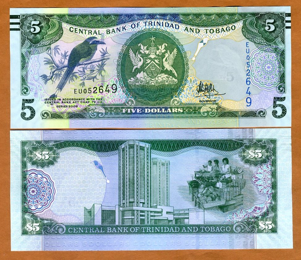 -p57-New//Sig 2006//2017 Hillaire UNC Trinidad /& Tobago 10 Dollars