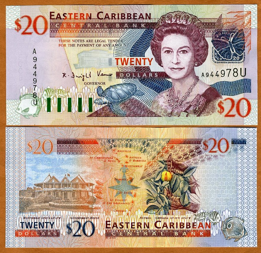 Dominica Eastern East Caribbean $20 P-44d 2003 UNC