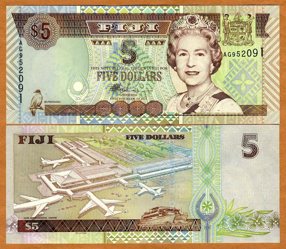 2;5;10 dollars, 2002 SET FIJI P-104-105-106 QEII UNC